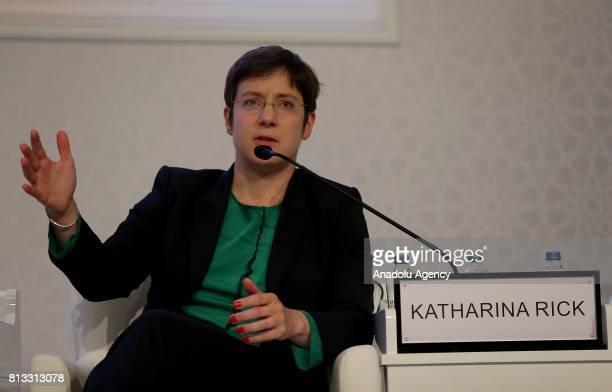 Managing Director at The Boston Consulting Group Katharina Rick speaks during the 22nd World Petroleum Congress at Lutfi Kirdar International...