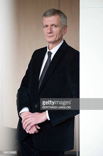 Managing Director at TNS Sofres polling institute, Edouard Lecerf poses on February 15, 2012 in Montrouge, outside Paris. AFP PHOTO BERTRAND LANGLOIS