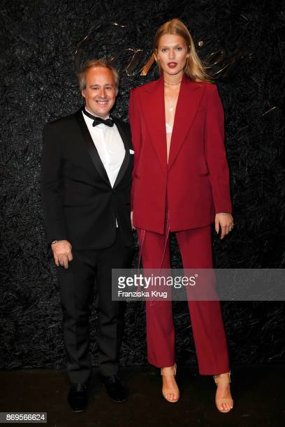 Managing Director Cartier Northern Europe Renaud Lestringant and Toni Garrn wearing two JUSTE UN CLOU rings attend the When the Ordinary becomes...
