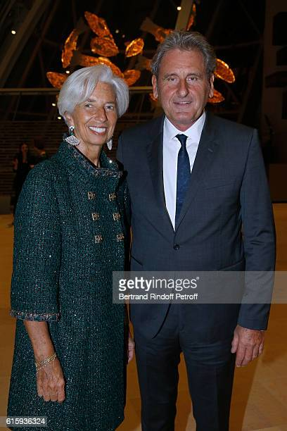 Managing Director Christine Lagarde and her husband Xavier Giocanti attend the Icones de l'Art Moderne La Collection Chtchoukine Cocktail at...
