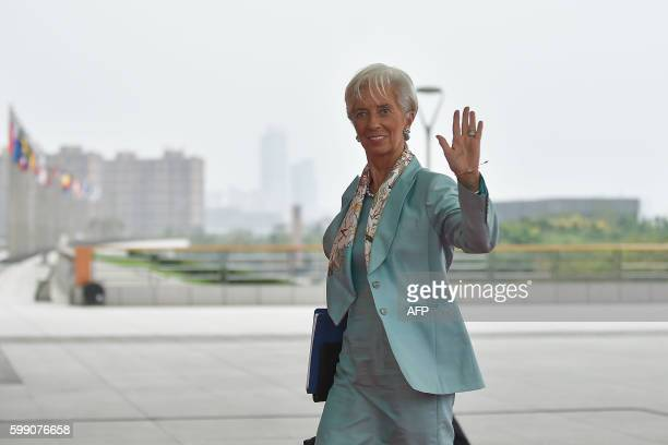 Managing Director Christine Lagarde arrives at the Hangzhou International Expo Center to attend the G20 Summit in Hangzhou on September 4, 2016. -...