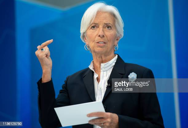 IMF Managing Director Christine Lagarde speaks about Bretton Woods After 75 Rethinking International Cooperation during the IMF World Bank Spring...