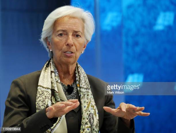 Managing Director Christine Lagarde speaks about the G20 and the global economy during a discussion at the headquarters of the American Enterprise...