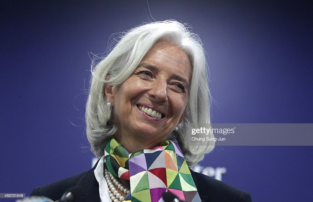 Managing Director Christine Lagarde speaks during a press conference at press center on December 5, 2013 in Seoul, South Korea. IMF and South Korea met to discuss economic exchanges and to strengthen bilateral relationships.