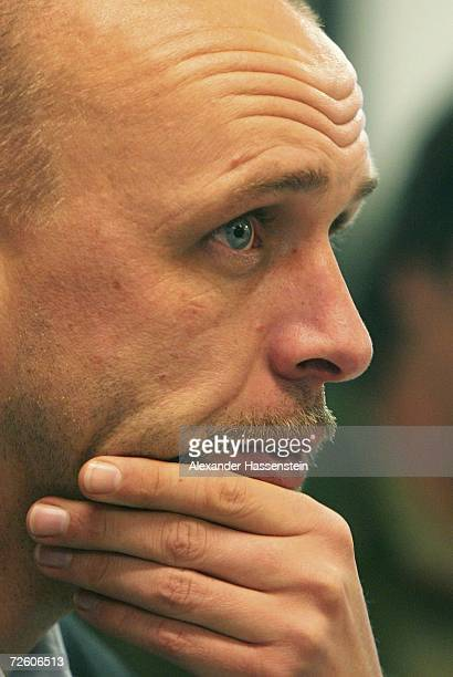 Managing director Holger Stanislawski looks on during the press conference of FC St. Pauli on November 20, 2006 in Hamburg, Germany. Third League...