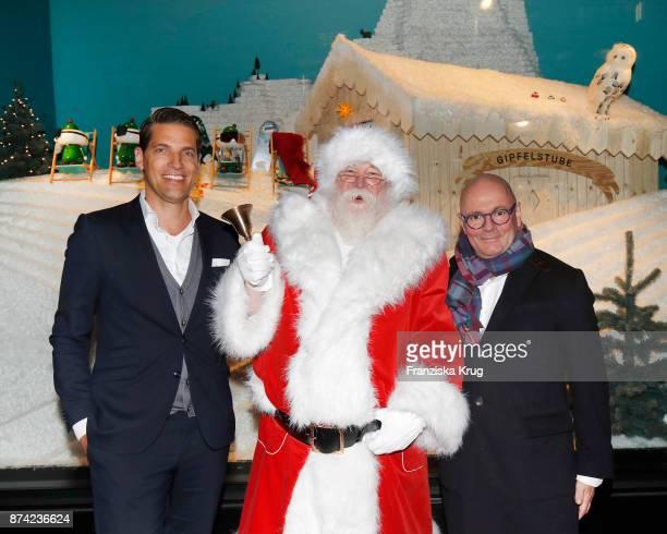 Managing Director KaDeWe Nico Heinemann Santa Claus and CEO The KaDeWe Group Andre Maeder during the KaDeWe Berlin Celebrates Christmas Gallery...