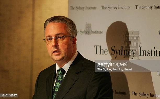 ABC Managing Director Mark Scott speaks about new editorial policies at the ABC in a talk at the Sydney Institute 16 October 2006 SMH Picture by...