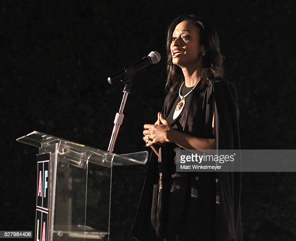 Managing Director Market Executive of New York's 5th Avenue Flagship Office Merrill Lynch Racquel Oden speaks onstage during Russell Simmons' Rush...