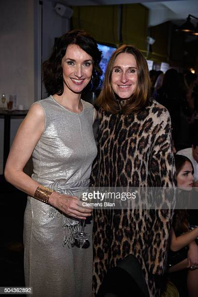 Managing Director NBCUniversal Katharina Behrends and Annette Weber attend E Red Carpet Influencer Suite promoting Live from the Red Carpet on german...