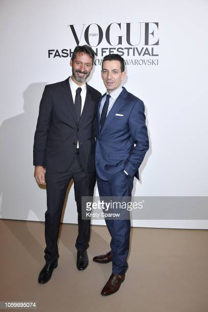 Managing Director of Alibaba Sebastien Badault and Conde Nast France CEO Yves Bougon attend the Vogue Fashion Festival 2018 at Hotel Potocki on...