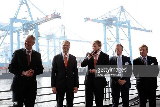 Managing Director of APM Terminals Maasvlakte II Frank Tazelaar APM Terminals Chief Executive Officer Kim Fejfer Maersk Chief Executive Officer Nils...