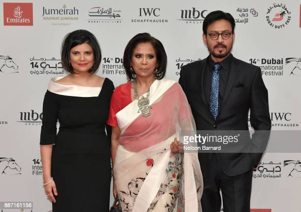 Managing Director of DIFF Shivani Pandya actor Irrfan Khan and guest attend the Opening Night Gala of the 14th annual Dubai International Film...