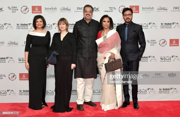 Managing Director of DIFF Shivani Pandya actor Irrfan Khan and guests attend the Opening Night Gala of the 14th annual Dubai International Film...