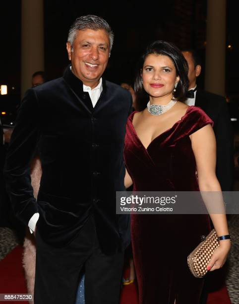 Managing Director of DIFF Shivani Pandya and her husband attend the Global Gift Gala on day three of the 14th annual Dubai International Film...