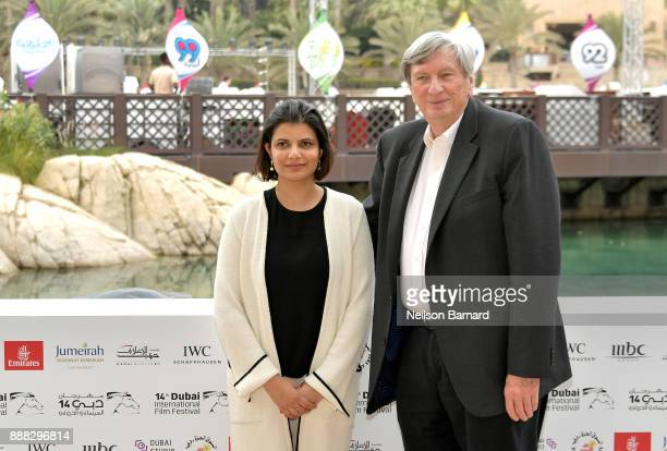 Managing Director of DIFF Shivani Pandya and President of the Academy of Motion Picture Arts and Sciences John Bailey during a photocall on day three...