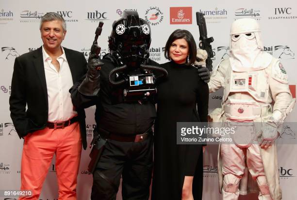 Managing Director of DIFF Shivani Pandya attends the 'Star Wars The Last Jedi' Closing Night red carpet on day eight of the 14th annual Dubai...