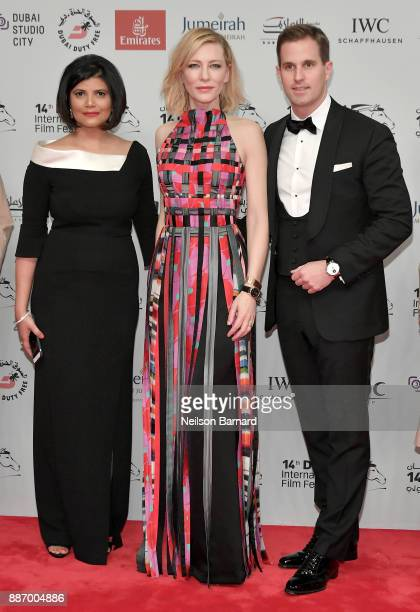 Managing Director of DIFF Shivani Pandya Cate Blanchett and IWC Schaffhausen CEO Christoph GraingerHerr attend the Opening Night Gala of the 14th...