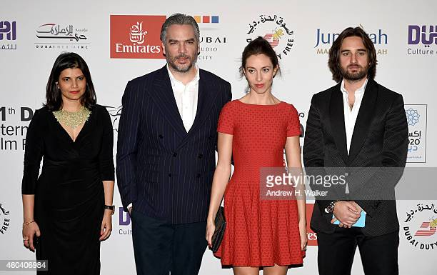 Managing Director of DIFF Shivani Pandya director Andrea di Stefano with his wife and producer Dimitri Rassam attend the Escobar Paradise Lost...