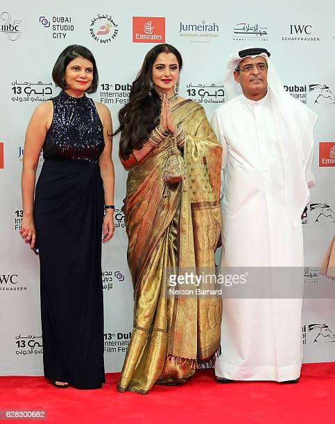 Managing Director of DIFF Shivani Pandya Rekha and DIFF Chairman Abdulhamid Juma attend the Opening Night Gala during day one of the 13th annual...