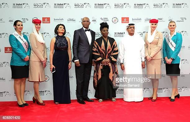 Managing Director of DIFF Shivani Pandya Samuel L Jackson with his wife LaTanya Richardson and DIFF Chairman Abdulhamid Juma attend the Opening Night...