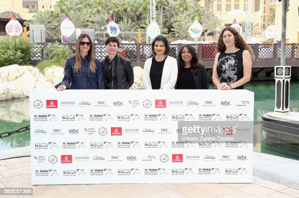 Managing Director of DIFF Shivani Pandya with filmmakers Niki Caro Kimberly Peirce Haifaa Al Mansour and Annemarie Jacir attend the 'Women at the...