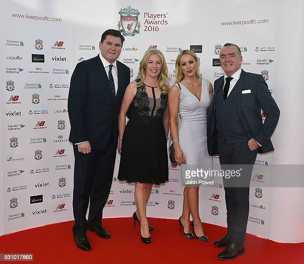 Managing director of Liverpool Ian Ayre and Karen Miller with Kevin and Ellie Sloane arrive at the Liverpool FC End of Season Awards at The...