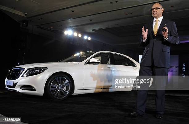Managing Director of MercedesBenz India Eberhard Kern during the launch of new Mercedes Benz SClass on January 8 2014 in New Delhi India The new...