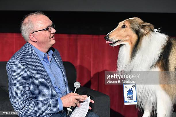 Managing Director of Preservation and Foundation Programs for the Academy of Motion Picture Arts and Sciences Randy Haberkamp and Lassie speak...