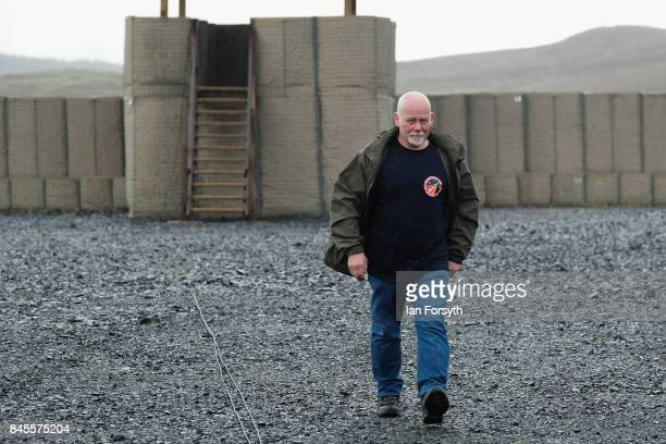Managing Director of Starchaser Steve Bennett makes final adjustments at the Skybolt 2 Research Rocket launch site as final preparations are made...