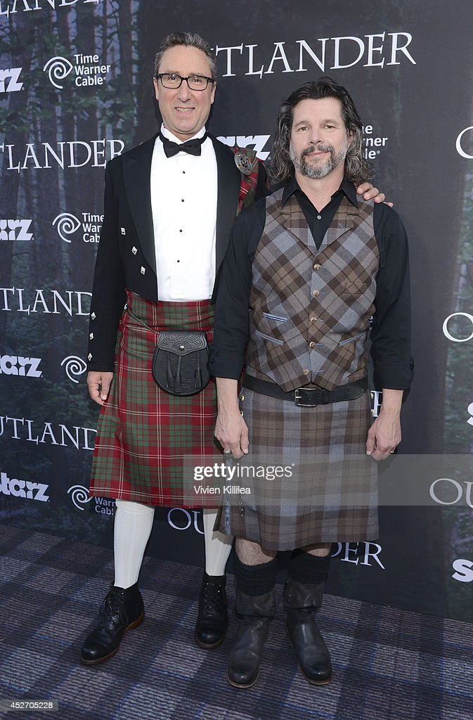 Managing director of Starz Carmi Zlotnik and executive producer Ronald S. Moore attends the Starz Series 'Outlander' Premiere - Comic-Con International 2014 at Spreckels Theatre on July 25, 2014 in San Diego, California.