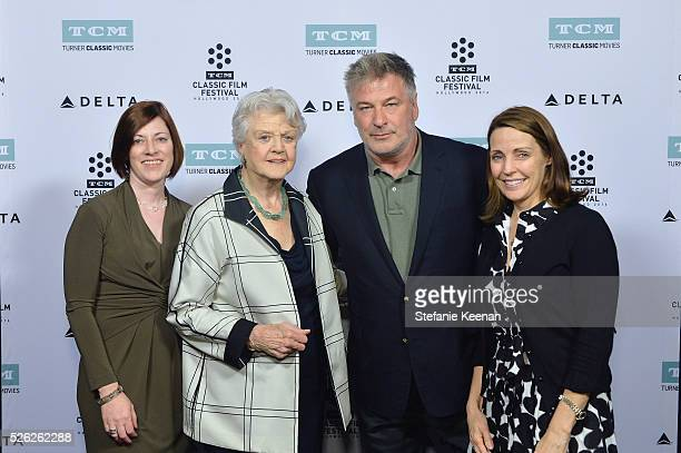 Managing Director of TCM Classic Film Festival Genevieve McGillicuddy actors Angela Lansbury Alec Baldwin and General Manager of TCM Jennifer Dorian...