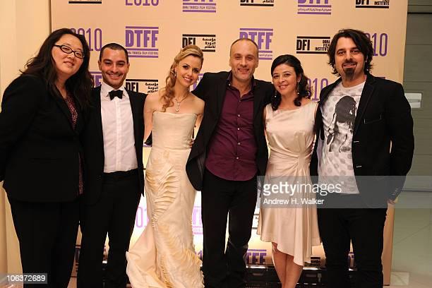 Managing Director of the Doha Film Festival Maggie Kim Doha Tribeca Film Festival coprogrammer Chadi Zeneddine Director of the Doha Tribeca Film...