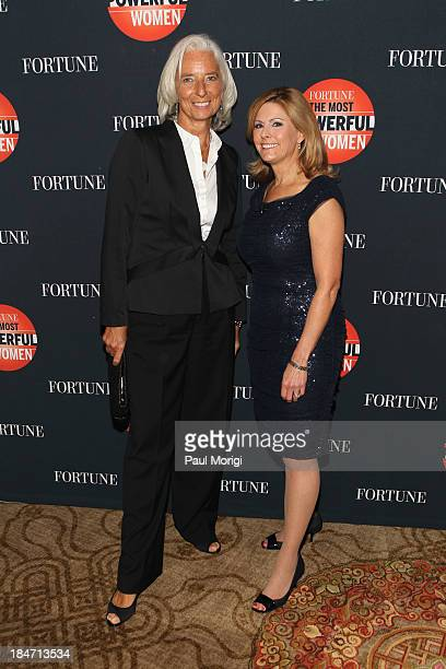 Managing Director of the IMF Christine Lagarde and Nina Easton attend the FORTUNE Most Powerful Women Summit on October 15 2013 in Washington DC