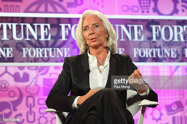 Managing Director of the IMF Christine Lagarde speaks onstage during the FORTUNE Most Powerful Women Summit on October 15 2013 in Washington DC