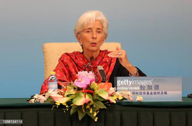 Managing Director of the International Monetary Fund Christine Lagarde and Secretary General of the Organization for Economic Cooperation and...