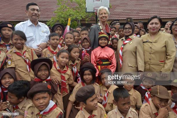 Managing Director of the International Monetary Fund Christine Lagarde and Indonesia's Coordinating Minister of Maritime Affairs Luhur Binsar...