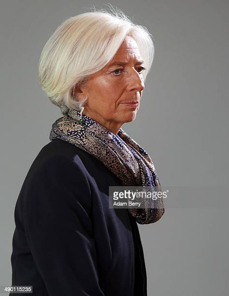 Managing Director of the International Monetary Fund Christine Lagarde arrives for a meeting in the German federal Chancellery on May 13 2014 in...