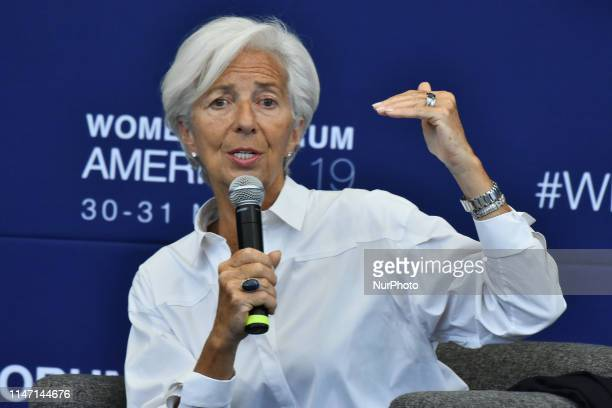 Managing Director of the International Monetary Fund Christine Lagarde speaks on stage during ' Open Hearts to Close Divides Solidarity for Peace and...