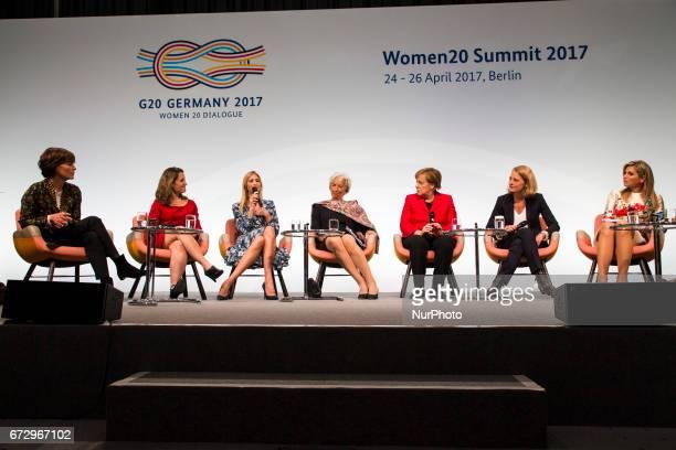 Managing Director of the International Monetary Fund Christine Lagarde , German Chancellor Angela Merkel , Daughter of US President Ivanka Trump ,...