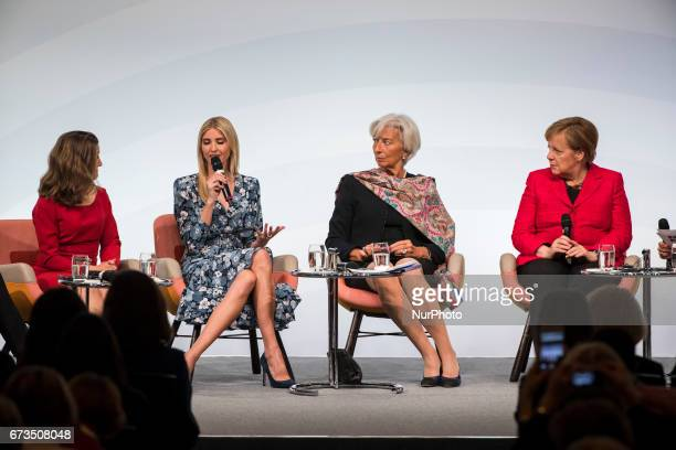 Managing Director of the International Monetary Fund Christine Lagarde German Chancellor Angela Merkel Daughter of US President Ivanka Trump and...