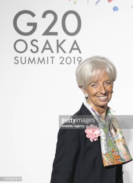 Managing director of the International Monetary Fund Christine Lagarde attends the first day of the G20 summit in Osaka Japan on June 28 2019
