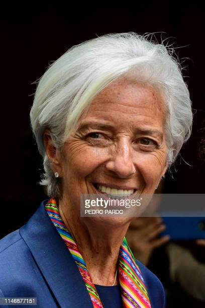 Managing Director of the International Monetary Fund Christine Lagarde arrives to give a speech during a session of the Mexican Senate in Mexico City...