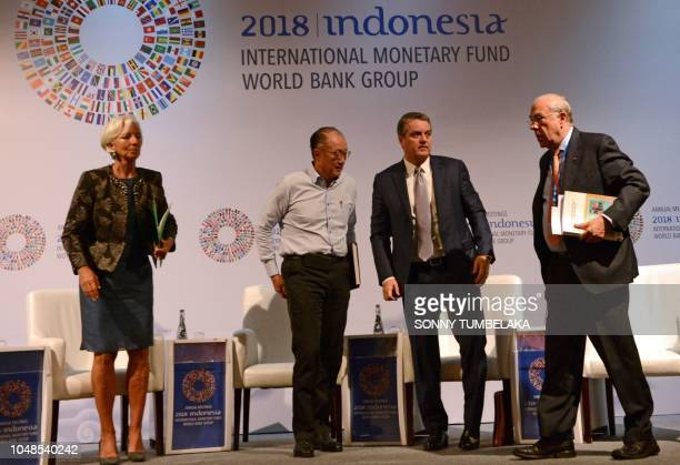Managing director of the International Monetary Fund Christine Lagarde World Bank president Jim Yong Kim director general of the World Trade...