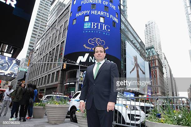 Managing Director Peter Terrant rings Nasdaq Closing Bell for Charity Day at NASDAQ on May 10 2016 in New York City