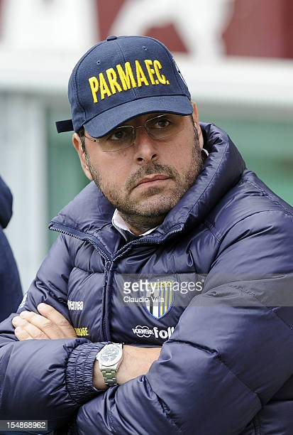 Managing director Pietro Leonardi of Parma FC during the Serie A match between Torino FC and Parma FC at Stadio Olimpico di Torino on October 28 2012...
