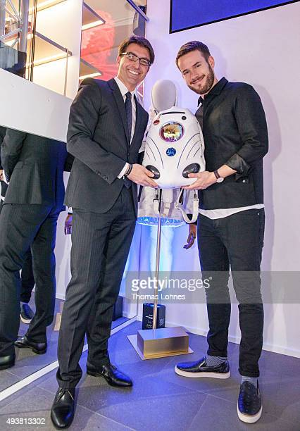Managing Director Sebastian Klever and Johannes Strate attend the MCM Space Odyssey Event at Frankfurt Opera Store on October 22 2015 in Frankfurt am...