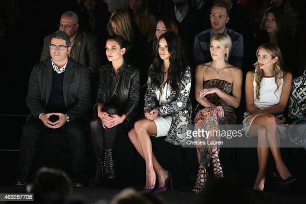 Managing Director spokesperson for Desigual Manel Jadraque actress Katie Holmes model Adriana Lima model Lena Gercke and DJ Harley VieraNewton attend...