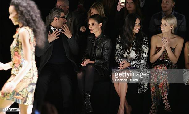 Managing Director spokesperson for Desigual Manel Jadraque actress Katie Holmes model Adriana Lima and Lena Gercke attend the Desigual fashion show...
