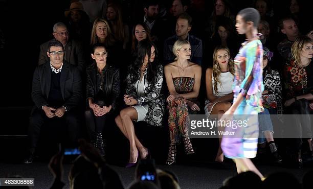 Managing Director & spokesperson for Desigual Manel Jadraque, actress Katie Holmes, model Adriana Lima, model Lena Gercke, and DJ Harley Viera-Newton...