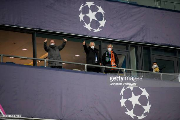 Managing Director Stephan A. C. Schippers of Borussia Moenchengladbach, Vice President Rainer Bonhof of Borussia Moenchengladbach and Vice President...